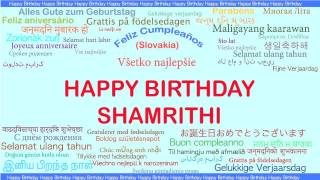 Shamrithi   Languages Idiomas - Happy Birthday