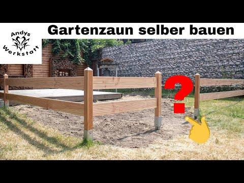 Gartenzaun Aus Holz / Douglasie Selber Bauen