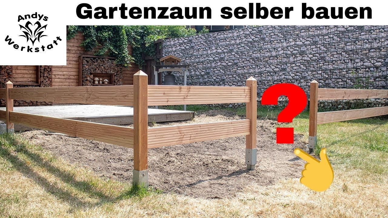 Gartenzaun Aus Holz Douglasie Selber Bauen Youtube