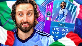 THE BEST MIDFIELDER OF ALL TIME?! 91 END OF ERA ANDREA PIRLO SBC SQUAD! FIFA 18 ULTIMATE TEAM