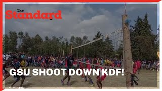 GSU shoots down KDF, bags Ksh.30,000 in Volleyball tournament final held in Nyeri