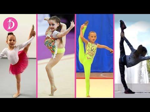 САМЫЕ КРАСИВЫЕ ГИМНАСТКИ ЮТУБА Ульяна Травкина / Мисс Николь / My Little Nastya / Polina  Gimnastica