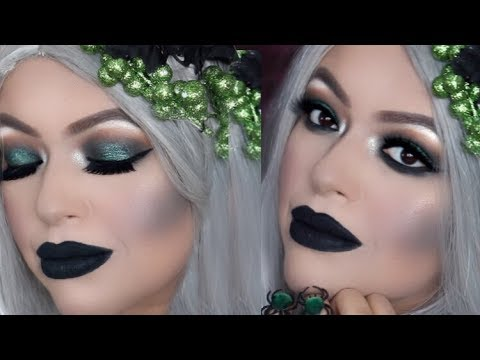 glam witch makeup  easy halloween makeup  last minute