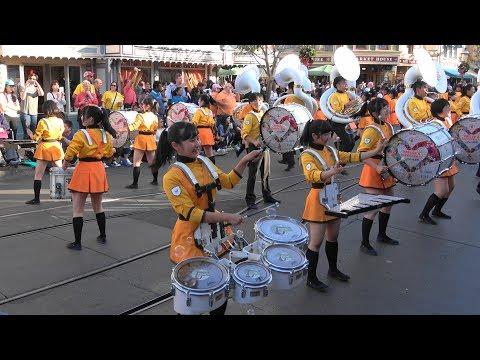 京都橘高校Kyoto Tachibana SHS Band Anaheim Disneyland Parade 「Multi-camera editing」「4k」