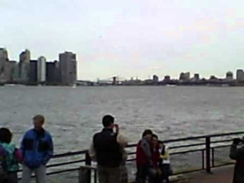 Manhattan shore from liberty island