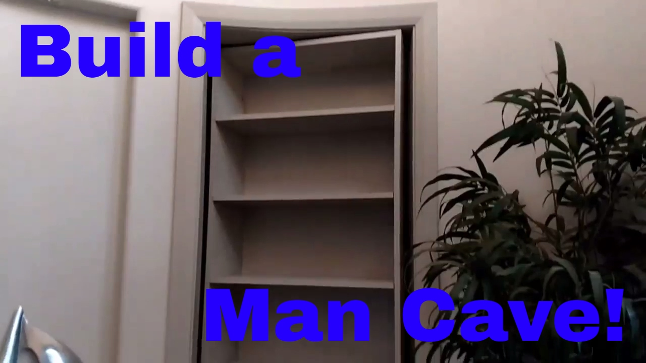 How to build a secret man cave door. Murphy door. DIY ...