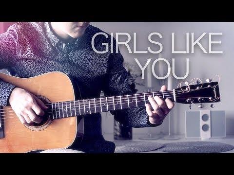 Maroon 5 - Girls Like You (feat. Cardi B) - Fingerstyle Guitar Cover // Joni Laakkonen