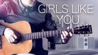 Maroon 5 - Girls Like You - Fingerstyle Guitar Cover // Joni Laakkonen