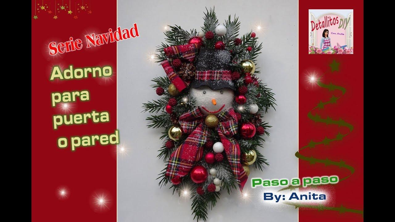 Adorno navide o para puerta o pared youtube - Adornos navidenos para puertas ...