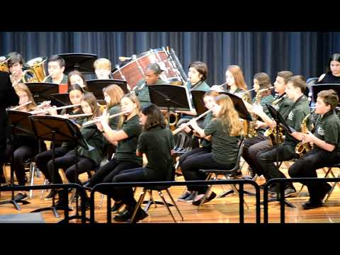 Seaford Middle School 8th Grade Band Winter 2018