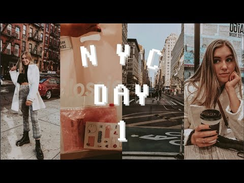 first day in NYC + Glossier, Brandy Melville, & Lululemon haul thumbnail