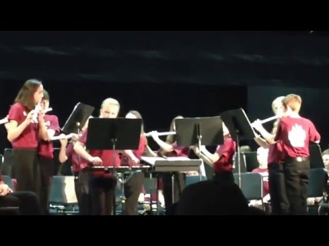 """Blevins Middle School - Beginning Band Flute Choir - """"Jamaican Holiday"""""""