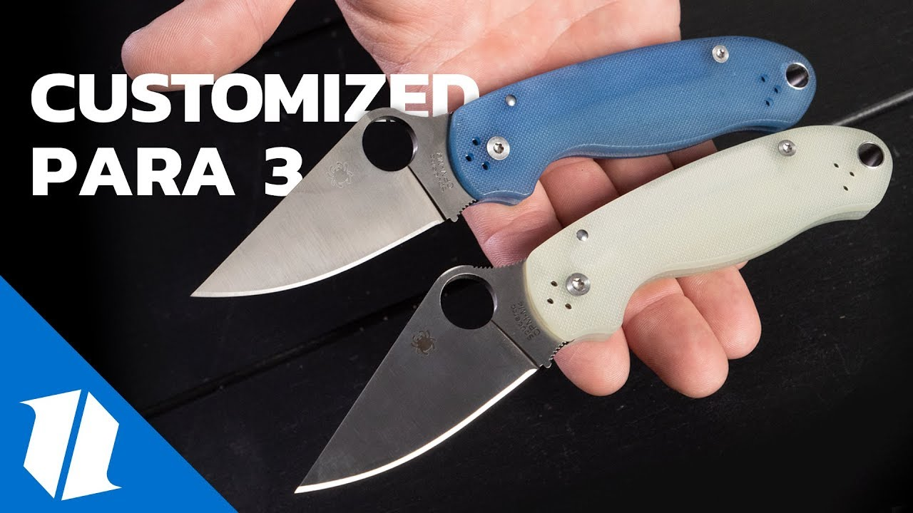 Spyderco Para 3: How to Customize Your Knife | Knife Banter Ep  53