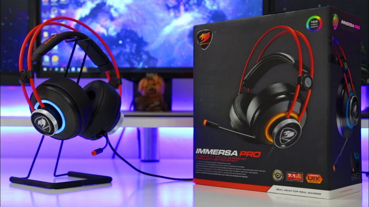 bbecb43a75f Same Design But Better Sound & RGB - Cougar Immersa Pro Review - YouTube