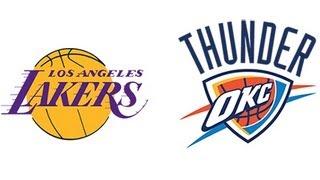 NBA 2K13: Los Angeles Lakers Vs. Oklahoma City Thunder [HD] Gameplay Xbox360/PS3/PC