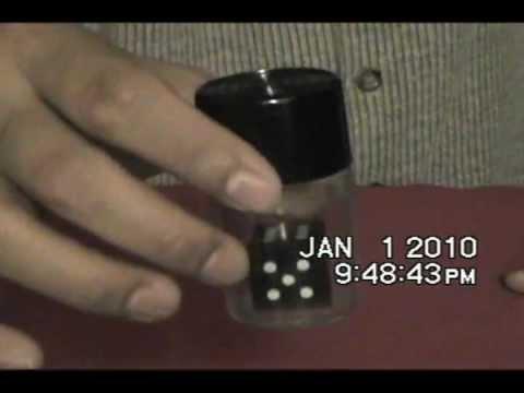 Black dice to white dice
