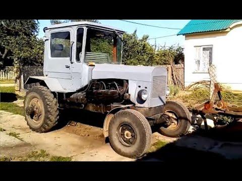Самодельный трактор из ДТ-75 и ЗиЛ, с СМД-18. 16ть лет работе. Homemade Tractor 16 Years In Work