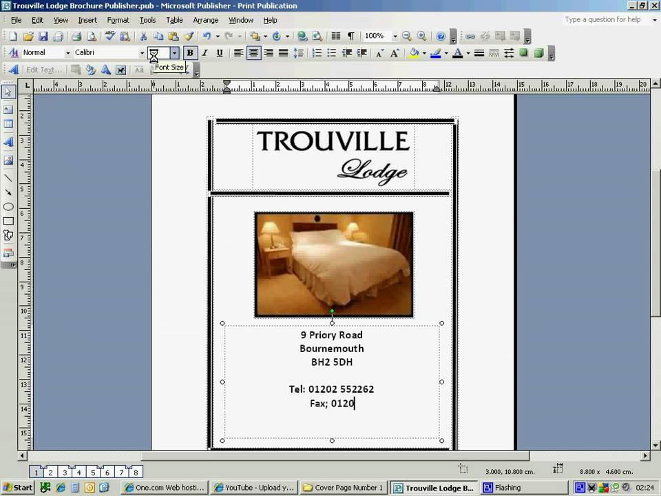 Hotel brochure design 1st youtube for Hotel brochure design