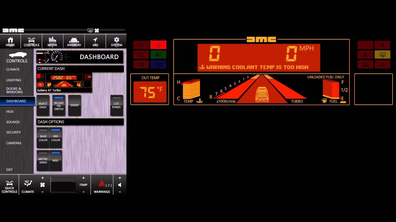 DMC Digital - Dash 3 1989 Subaru XT Turbo - Opening - YouTube