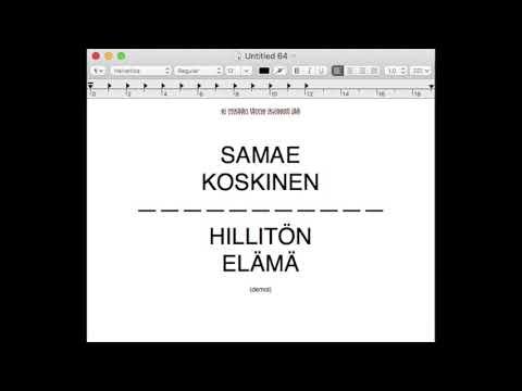 Samae Koskinen: Hillitön elämä demot - Aurinko, ystävä ja kaljaa