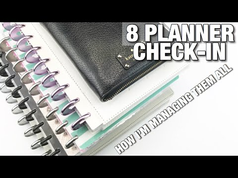 MY 8 Planner Check -In! Real Talk + How I'm Managing Them All... | At Home With Quita