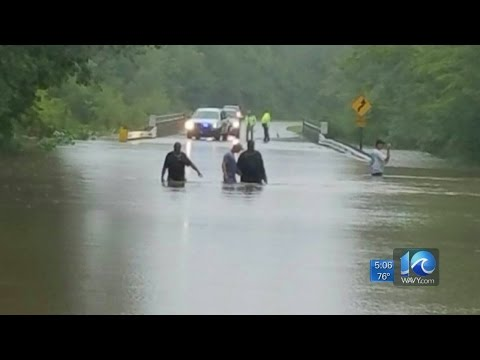 Roads washed out in Chowan County, men rescued