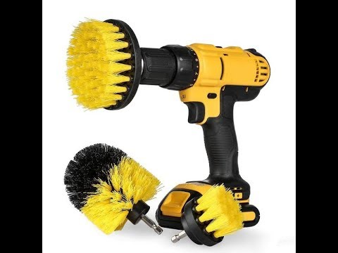 Power Scrub Brush Drill Cleaning Brush For Sofa Bathroom Shower Tile Grout Cordless Cleaning