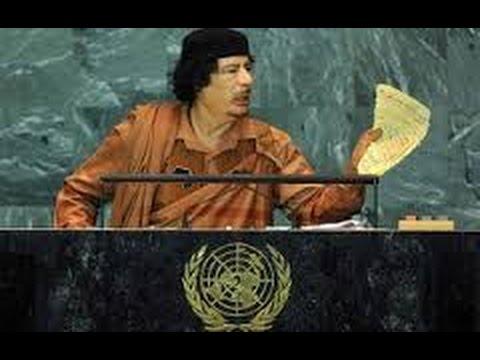 Discurso Historico De Muammar Gaddafi En La ONU Completo Que Le Costaria Su Muerte