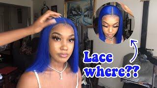 BLUE HAIR TRANSFORMATION!!