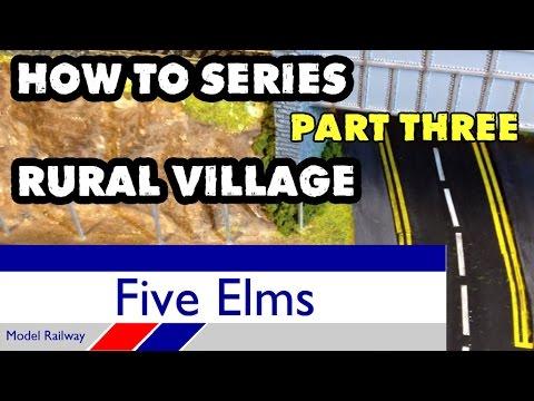 Model railway rural village scene diorama Part 3/6
