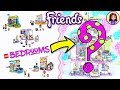 Lego Friends Girls Bedrooms Jenga-Style Custom Build 😂DIY Craft