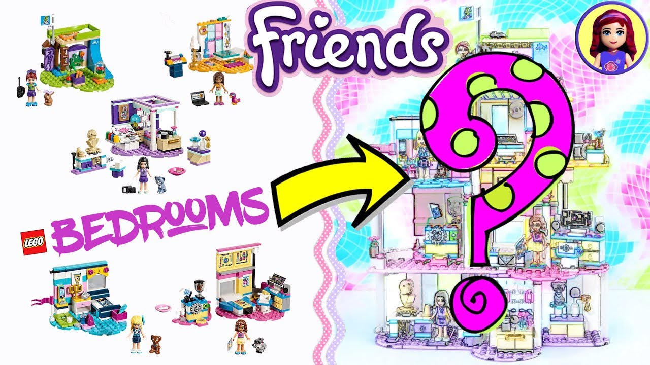 Lego Friends Girls Bedrooms Jenga Style Custom Build 😂diy