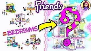 Lego Friends Girls Bedrooms Jenga-Style Custom Build 😂DIY Craft