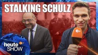 Fabian Köster verfolgt Martin Schulz quer durch die Republik
