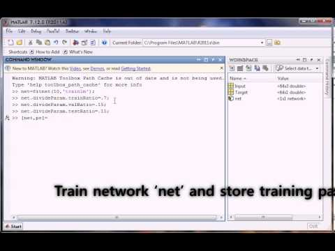 Developing neural network in MATLAB method1 command window] [fitting ...