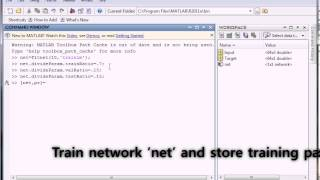 Developing neural network in MATLAB method1 command window] [fitting tool]
