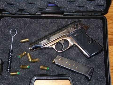 Umarex Walther PP 9mm PAK polished chrome - Mini-Schusstest