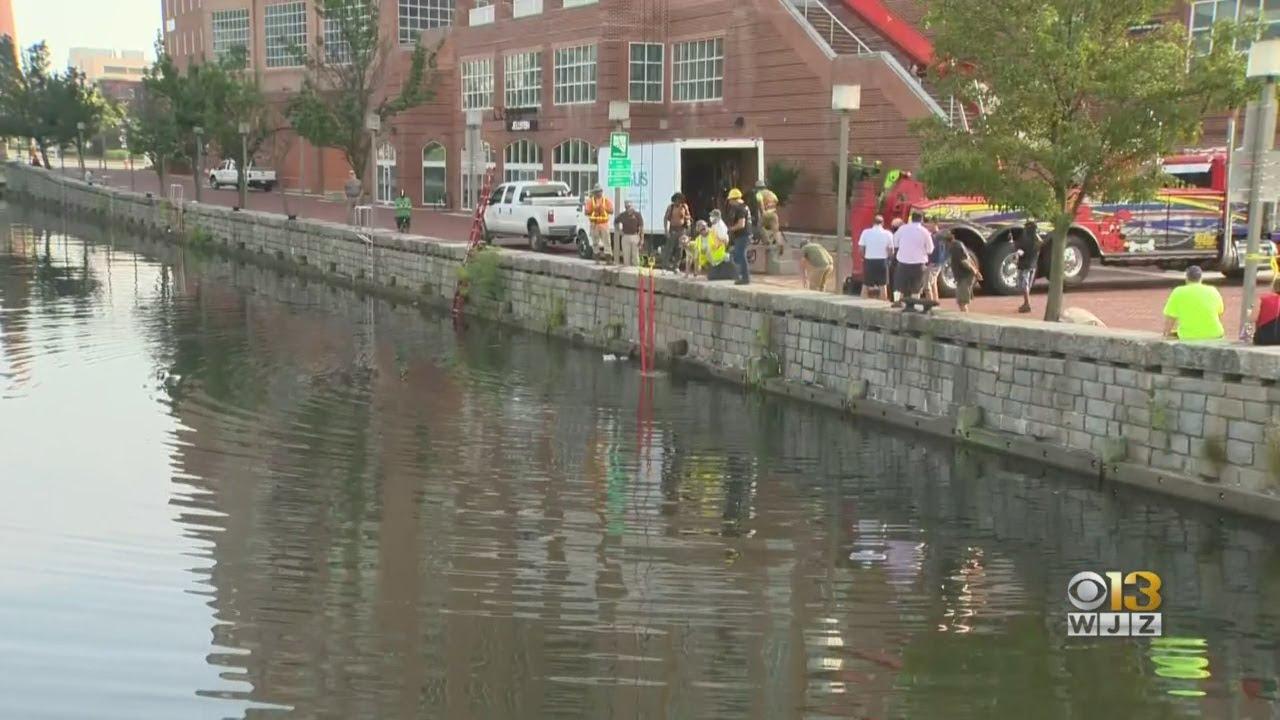 Crews Retrieve Christopher Columbus Statue From Baltimore's Harbor