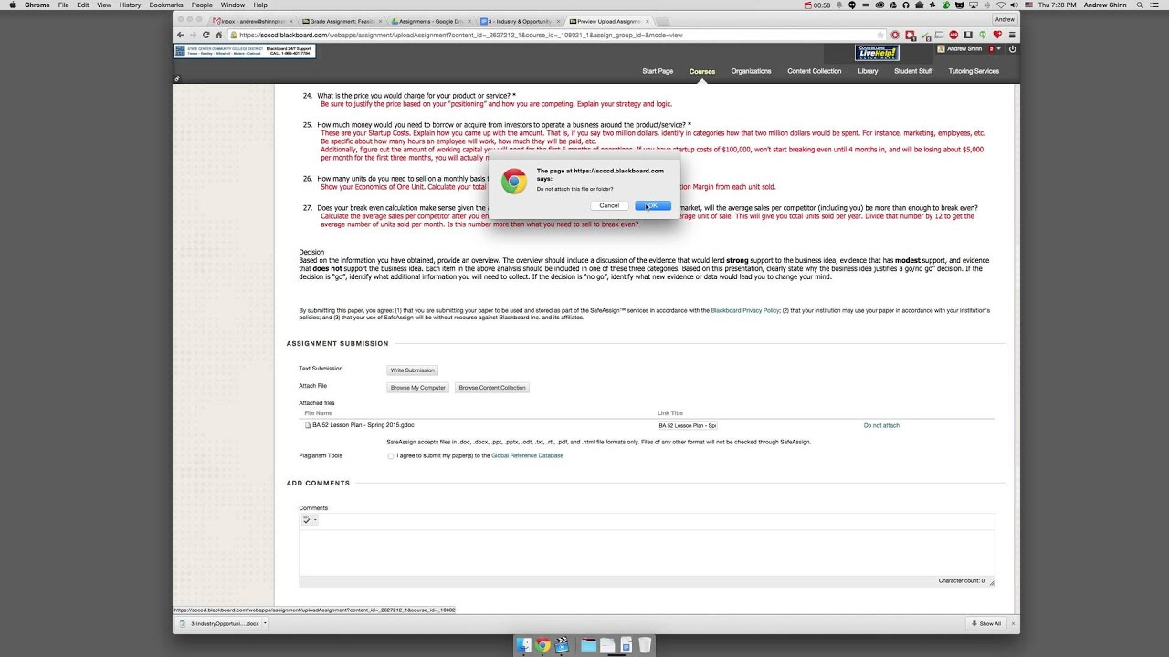 How to upload a Google Doc to Blackboard
