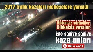 Sakarya da trafik kazaları MOBESE kameralarına yansıdı