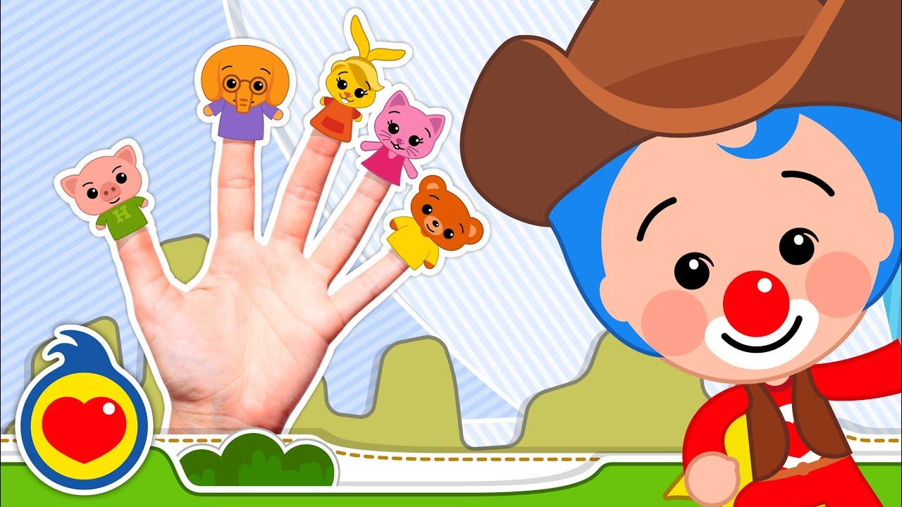 🖐 A Família dos Dedos de Animais 🖐 Música Infantil ♫ Um Herói do Coração