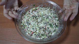 """Очень вкусный салат с грибами """"Алёнка""""! От Кухни """"Первого Семейного"""""""