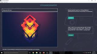 Steganography tool made in Electron js + OpenCv