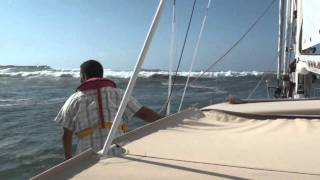 Thrilling sailing in to Rabat
