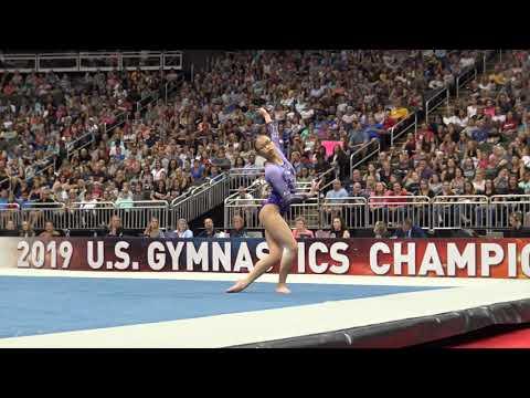 Morgan Hurd – Floor Exercise – 2019 U.S. Gymnastics Championships – Senior Women Day 2