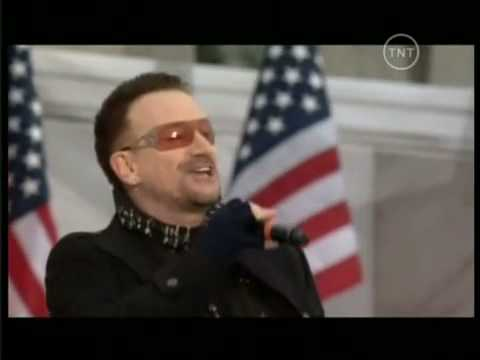 U2 OBAMA CONCERT from ( Washington, 18th January 2009 ) ( Pride )  ( City of Blinding Lights ) WE ARE ONE