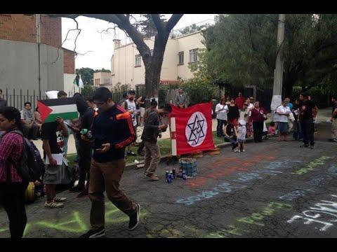 Protestan En Embajada De Israel En México Por Gaza