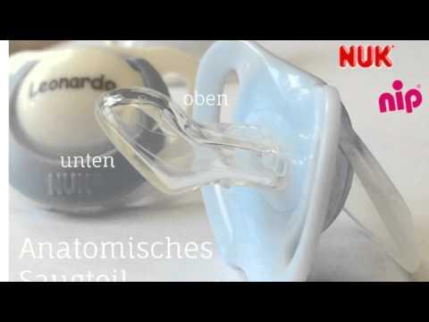 Schnullireich Personalisierte Schnullerkette mit Namen 10 Zeichen max Hellblau // Junge 6-18 Monate + 1 NIP Schnuller mit Namen