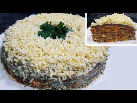 Вкусный печеночный торт! Домашний рецепт!
