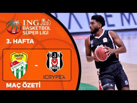 BSL 3. Hafta Özet   Frutti Extra Bursaspor 73-76 Beşiktaş Icrypex